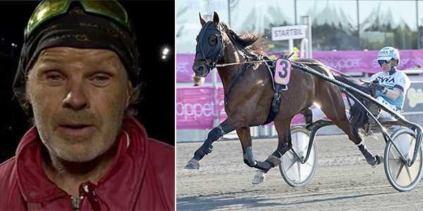 Johan Lejon och hästen Galantis.