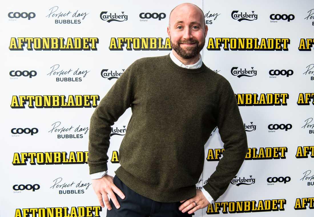 Också glad: Aftonbladets Niklas Ornerud.