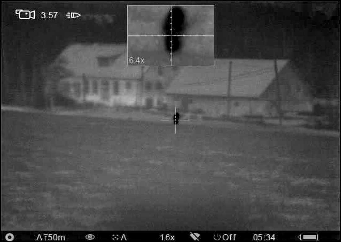Enligt åklagaren visar det inspelade materialet från vapnets kikarsikte hur jägaren siktar mot joggaren, varpå han avlossar ett skott.