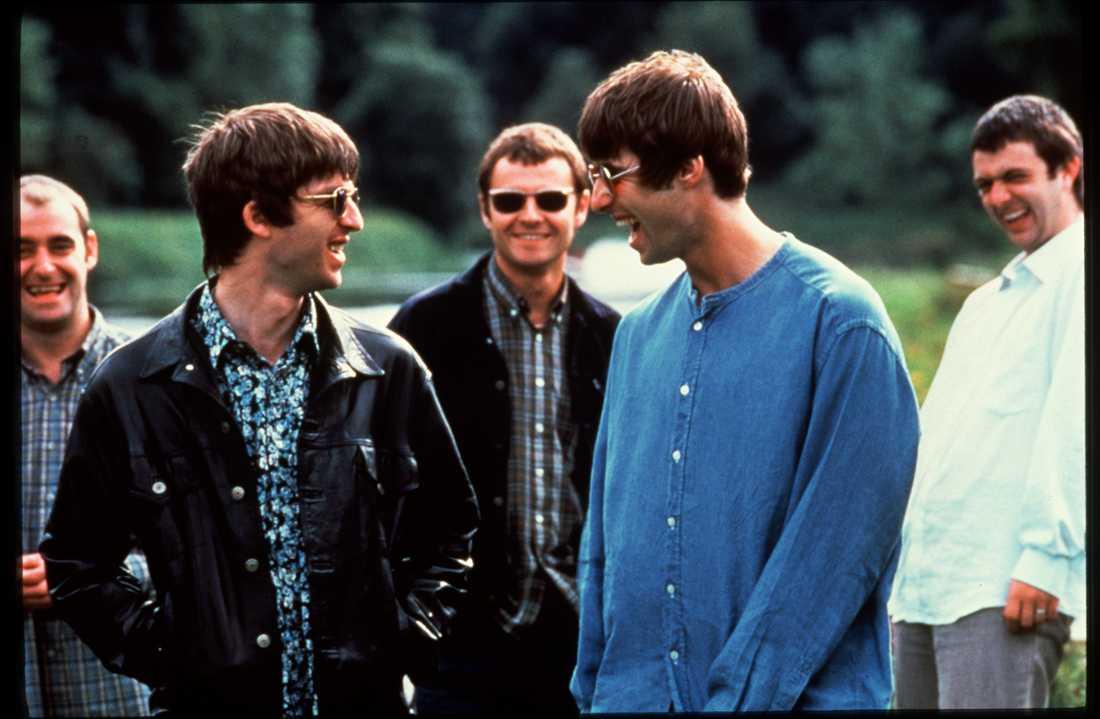 Skrattande Gallagherbröder är ovanligt idag.