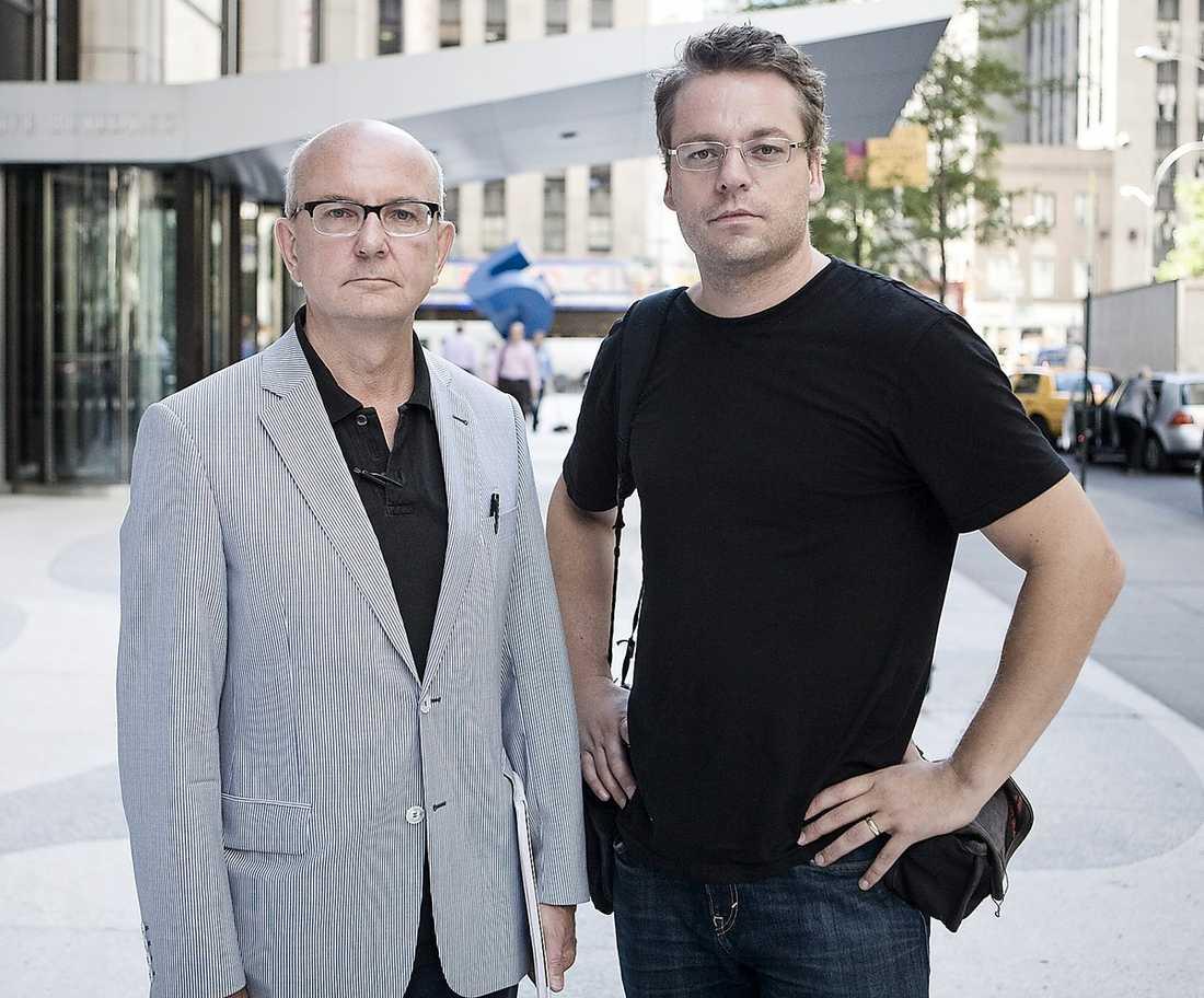Aftonbladets utsända i New York, Peter Kadhammar och fotograf Pontus Höök.