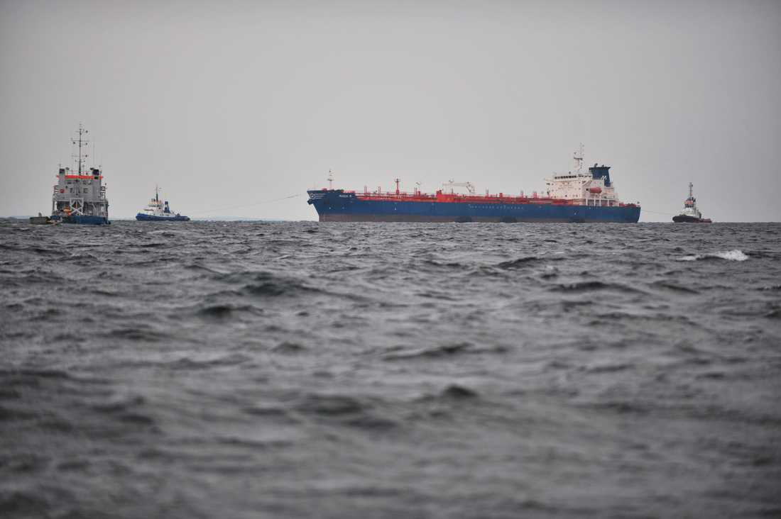 Nordkorea anklagas för bränslehandel till havs. Genrebild – fartygen på bilden har inte direkt med texten att göra.