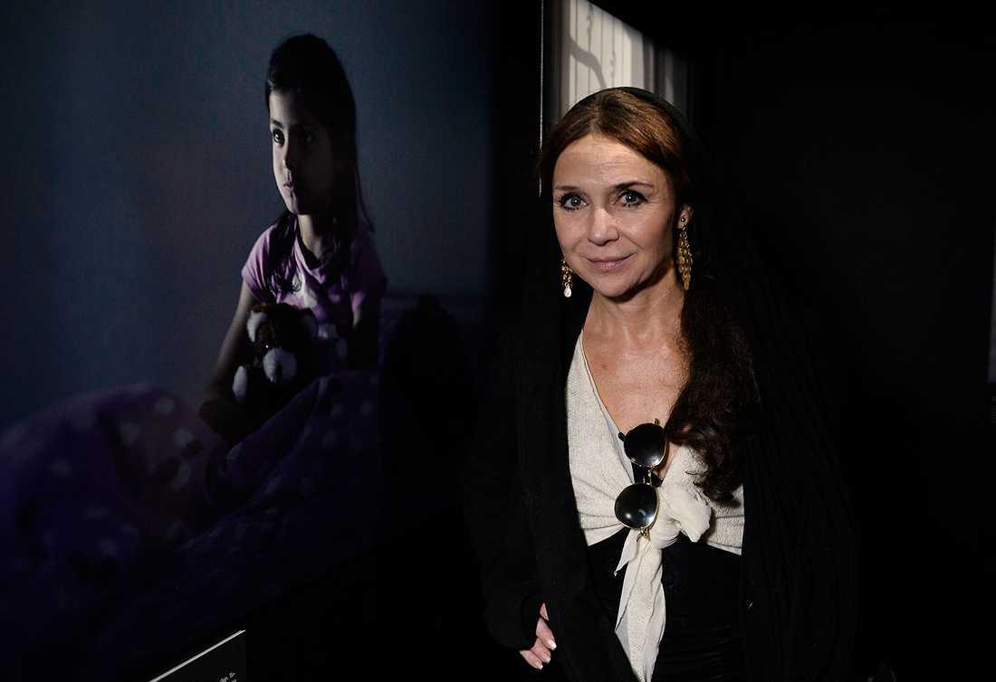 Programledaren Annika Jankell fastnade för bilden på Fatima.