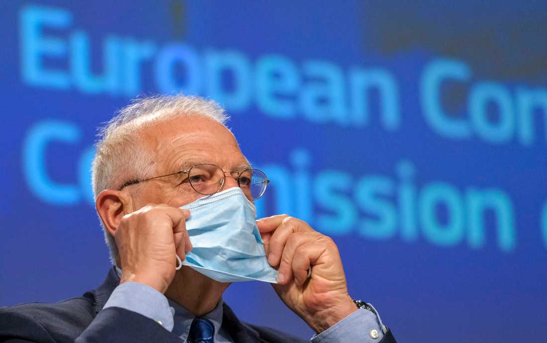 EU:s utrikeschef Josep Borrell ska diskutera relationen till Kina med medlemsländernas utrikesministrar. Arkivbild.