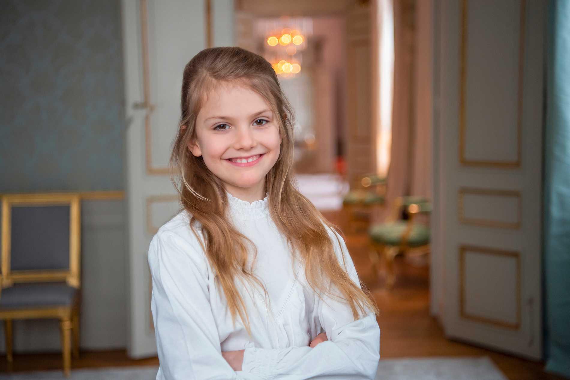 I dag fyller prinsessan Estelle nio år.