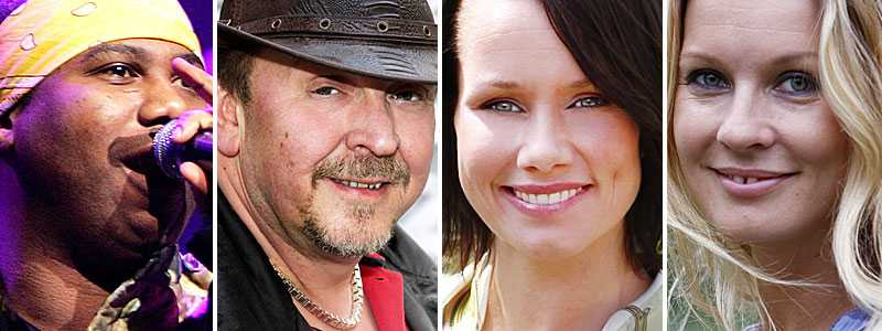 Swingfly, Olle Jönsson i Lasse Stefanz, Linda Bengtzing och Pernilla Andersson ska fajtas om en plats till Eurovision Song Contest.