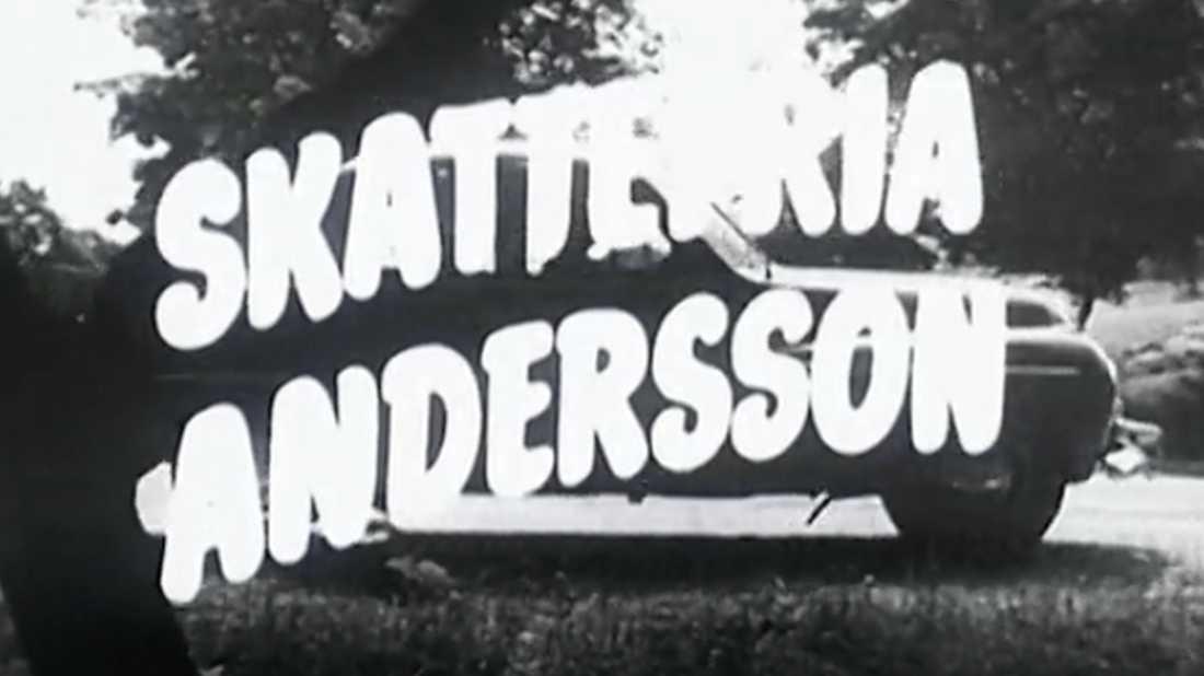 """""""Skattefria Andersson"""" är en valfilm för Socialdemokraterna från 1954."""