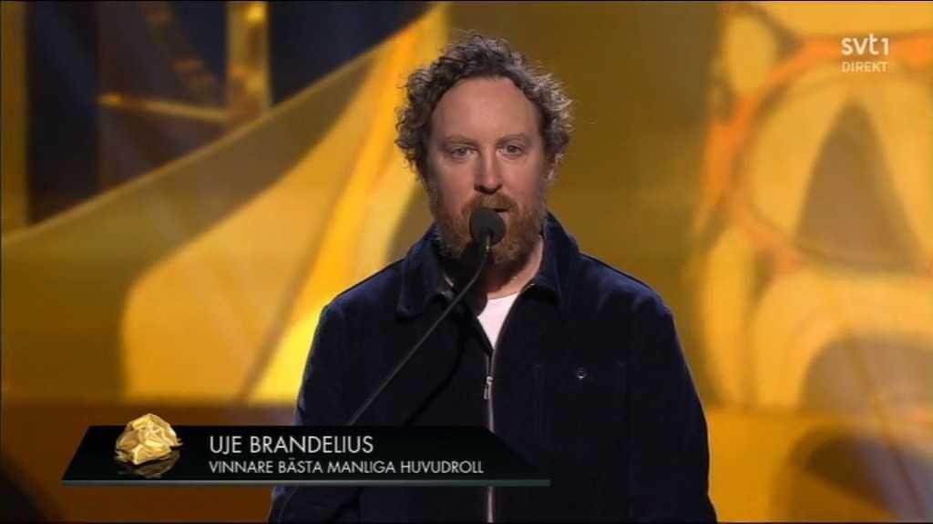 Uje Brandelius – bästa manliga huvudroll i rollen som sig själv.