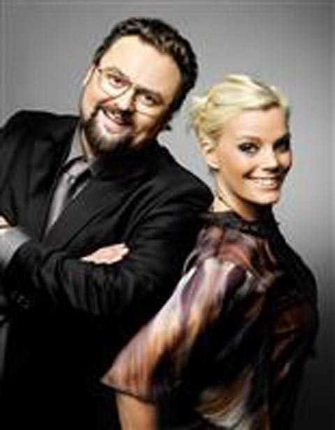 """Adam Alsing och Gry Forssell var programledare för TV 4:s """"Pokerfejs"""" som sändes 2007."""