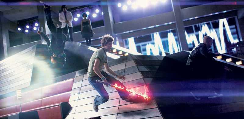 "smittande charmigt Indierock, dataspel och serietidningar möts i perfekt mix i ""Scott Pilgrim vs the world""."