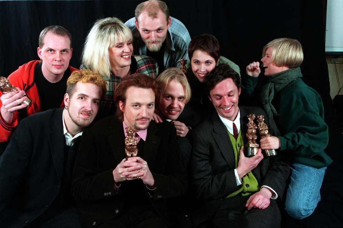 Med Rockbjörn och andra artister 1996.