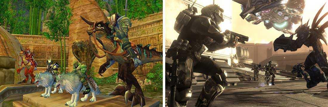 """""""World of Warcraft och """"""""Halo"""" – exempel på spel som företrädesvis unga män spelar tillsammans – fast var och en för sig."""