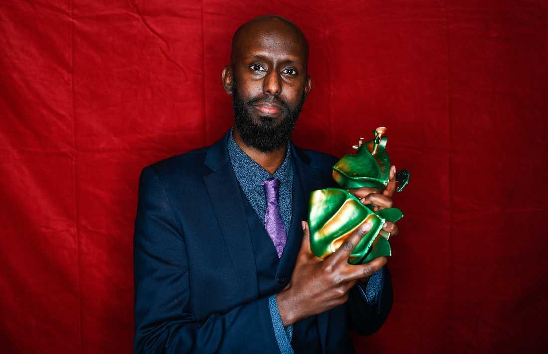"""Ahmed Abdullahi vinner priset för bästa kortfilm med filmen """"Martyren""""."""