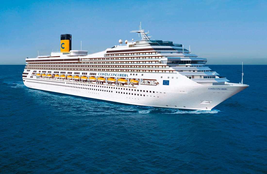 Costa Concordia är Costa-flottans största fartyg, när den förliste fanns 3200 passagerare och 1000 besättningsmän ombord.