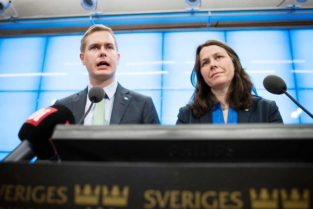 Gustav Fridolin och Åsa Romson.