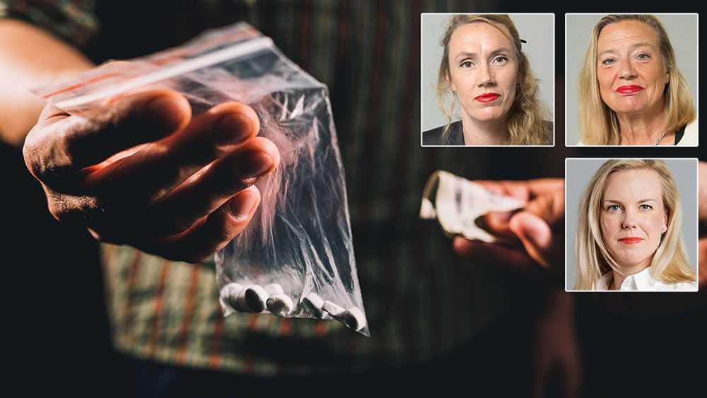 Tänk om polisen skulle kunna göra 36000 tillslag vid försäljning av narkotika i stället för att varje år ta omkring 36000 blod- och urinprov vid misstanke om narkotikakonsumtion, skriver Maj Karlsson, Karin Rågsjö, Linda Westerlund Snecker (V).