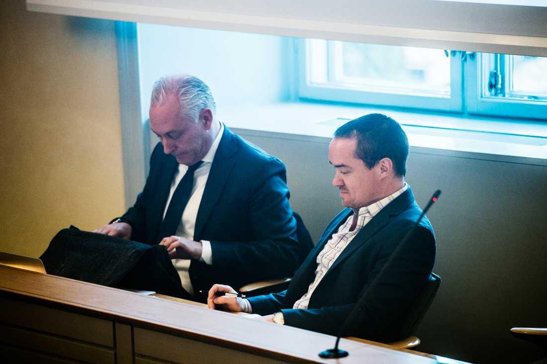 Kent Ekeroth i dagens förhandling i hovrätten.