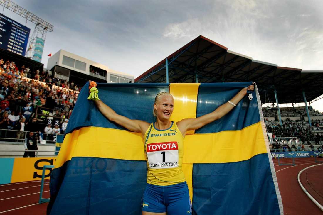 """OS-, VM- och EM-mästaren Carolina Klüft tävlar i """"Mästarnas mästare"""" nästa år. Arkivbild."""