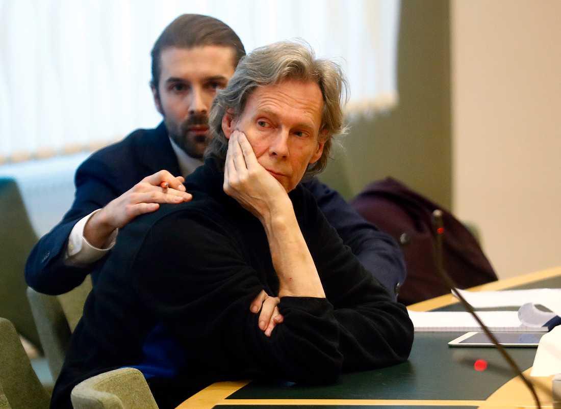 Ulf Borgström, även känd som Gryningspyromanen under fredagens häktningsförhandling.
