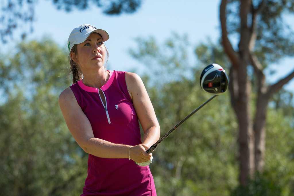 Svenska golfspelaren Lynn Carlsson blev vittne till den tragiska händelsen.