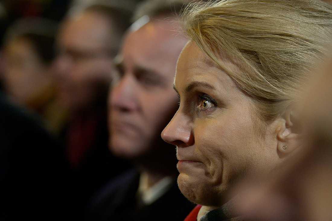 Danmarks statsminister Helle Thorning-Schmidt hade svårt att hålla tillbaka tårarna.