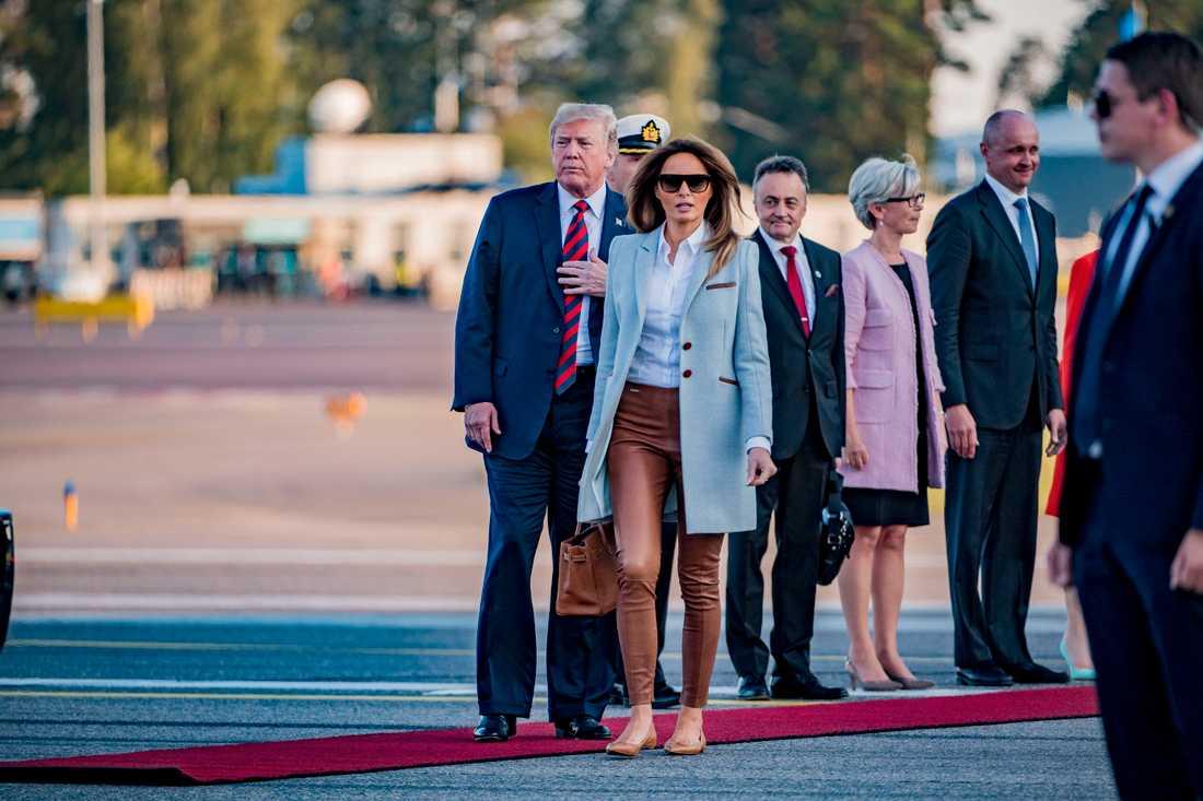Melania Trump kommer att träffa den finländska poeten och presidenthustrun Jenni Haukio under Helsingforsvistelsen.