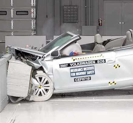 VW Eos Utan pisksnärtskydd.