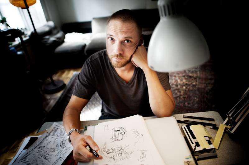 """I ny form Serietecknaren Martin Kellerman (född 1973) romandebuterar nu med """"Allt blir inget"""", en sorts relationsthriller om tre unga människor."""