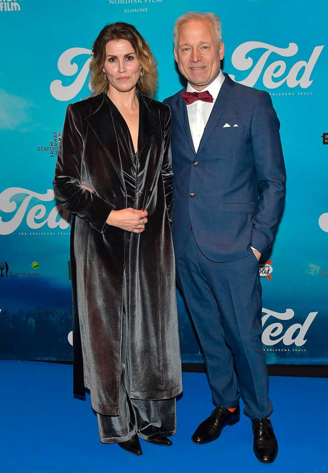 Regissören Hannes Holm med hustrun Malin.