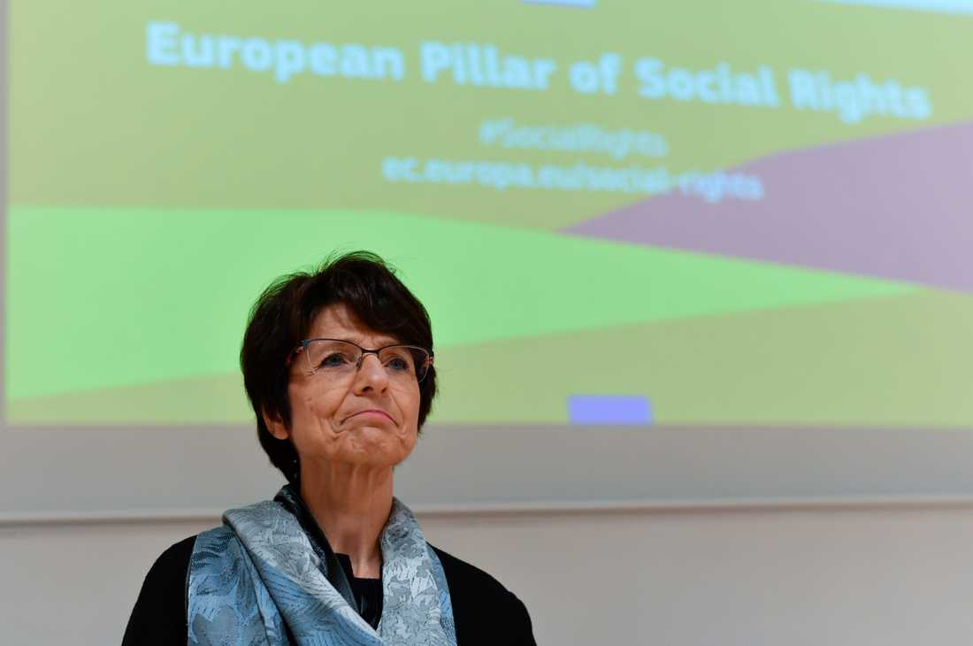 EU:s arbetsmarknadskommissionär Marianne Thyssen gillar den nya myndigheten Ela. Arkivfoto.