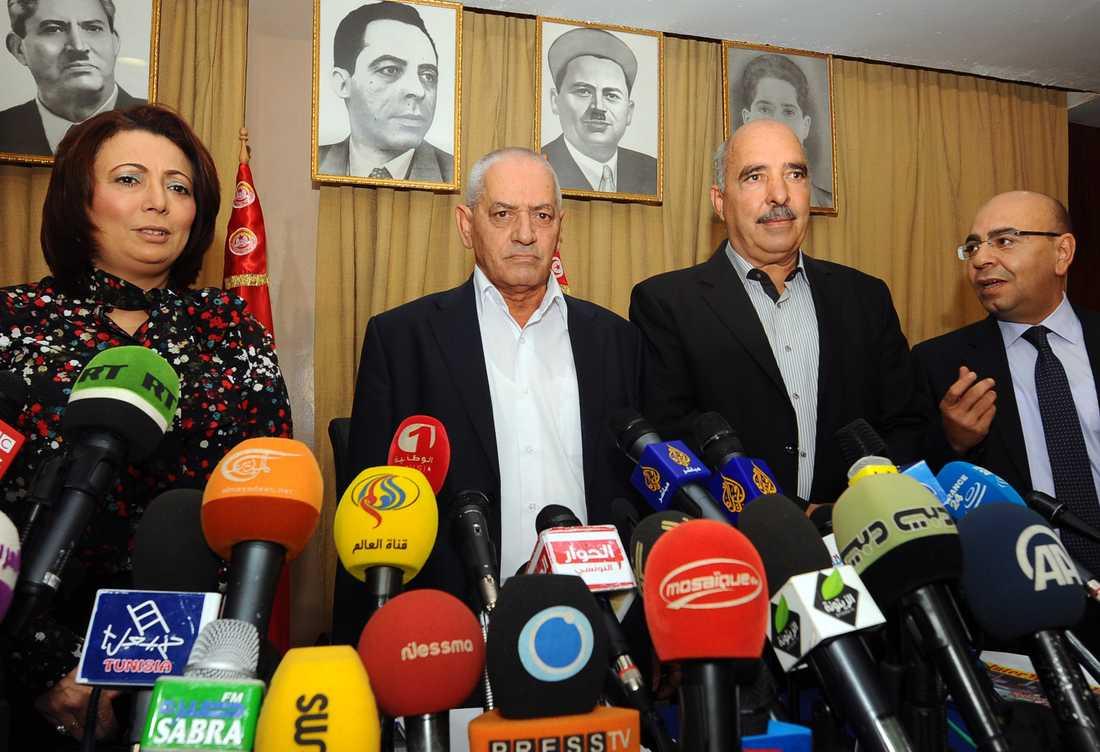 """Medlemmar av """"Tunisian national dialogue quartet"""" på en bild från 2013."""