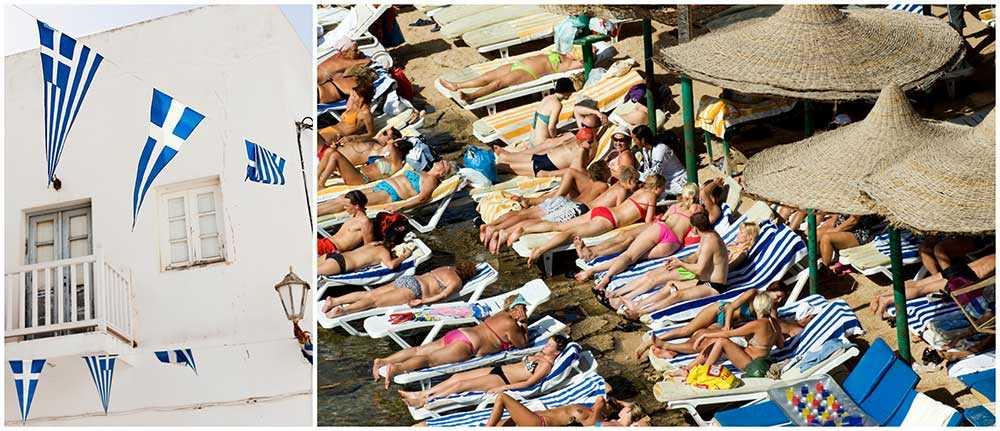 Grekland tar emot miljontals turister varje år.