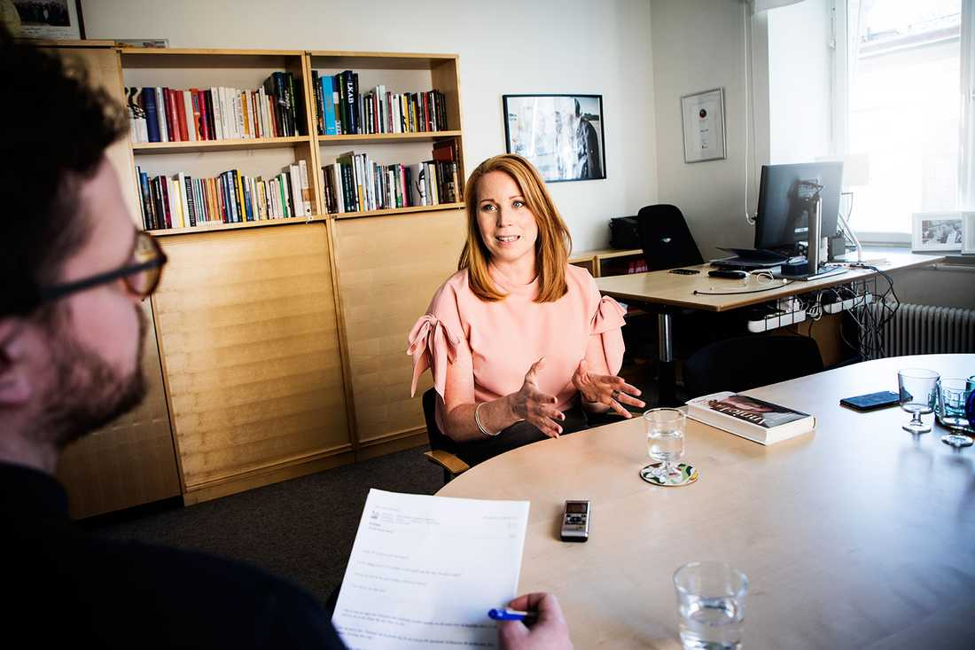 """""""Det är alldeles för många som drabbas. Psykisk ohälsa, och framför allt stressrelaterad sådan, är vår nya folksjukdom"""", säger Annie Lööf."""