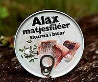 +++ Alax matjessill Vikt: 200 g Pris: 15 kr Omdöme: Inte alls tokig. Mjäll och smaklig.