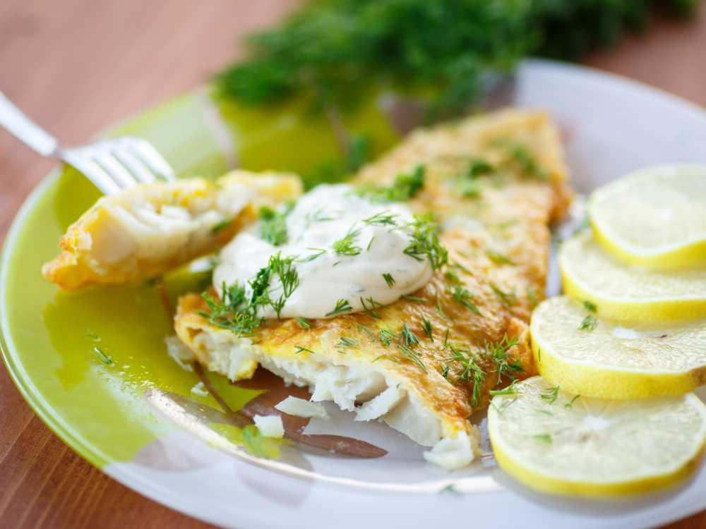Stekt abborre med potatis.