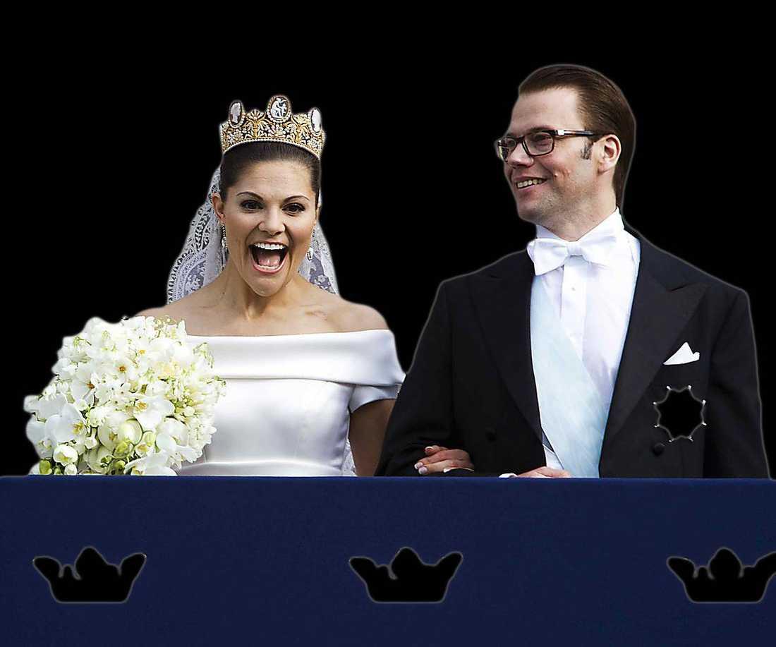 Kronprinsessan Victoria och prins Daniel gifte sig 2010.