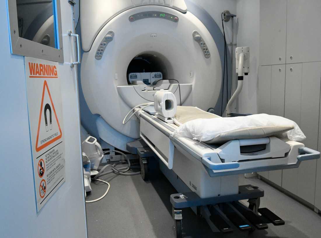 Sjuksköterskan fastnade i kamerans magnetfält och skadades allvarligt. Arkivbild.