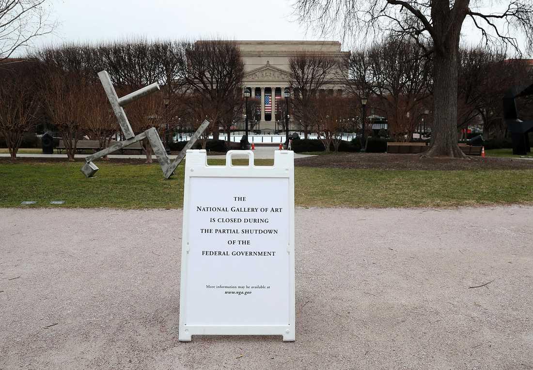 National Gallery of Art i Washington håller stängt.