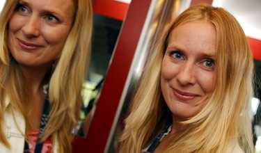 Annika Lantz - en sann Pridevän. Foto: Lars Pehrson/Svd/SCANPIX