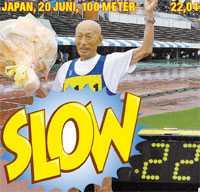 100 gubbar Kozo Haraguchi är en slowstarter i ordets verkliga mening. Han började löpa vid 65 års ålder men nu, vid 95 innehar han två världsrekord på 100 meter.