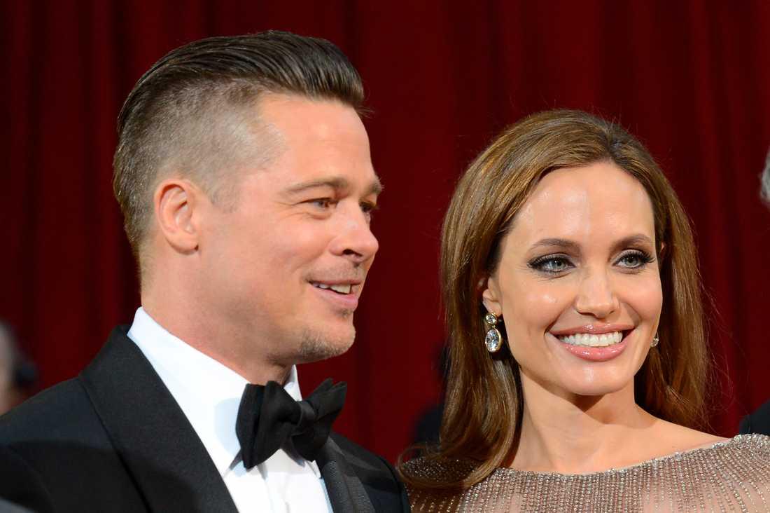 Brad Pitt och Angelina Jolie innan skilsmässan.