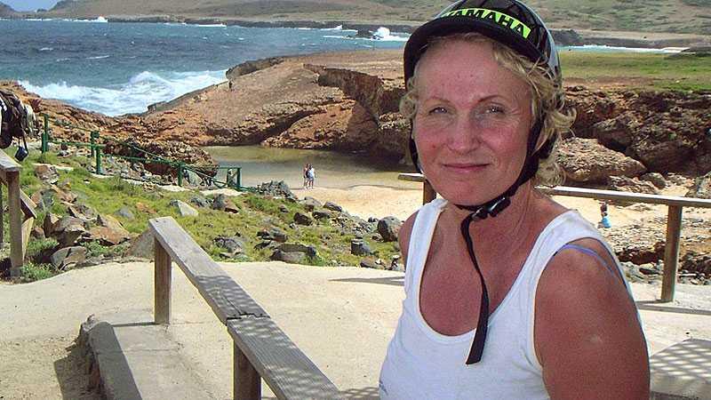 Eva Rusz har varit på Aruba fem gånger. många spännande minnen. Bland annat från den gången hon blev attackerad av en leguan.