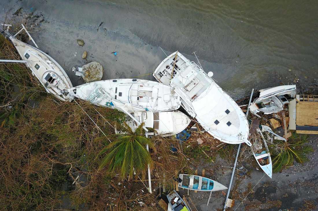 Förödelse på Puerto Rico efter orkanen Marias framfart.