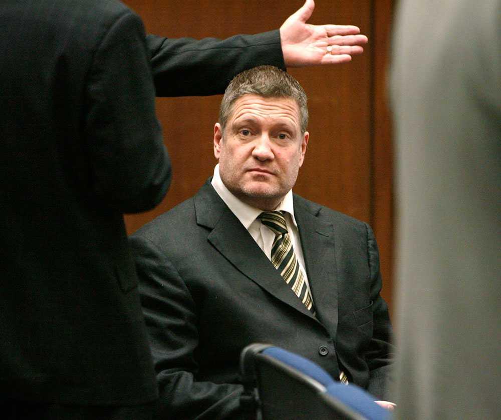 Stefan Eriksson i rättssalen i Los Angeles 2006.