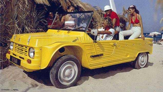 Franska Citroën ska visa upp en ny version av sin prisbelönta C4 Cactus. På bilden: en äldre Mehari-modell.