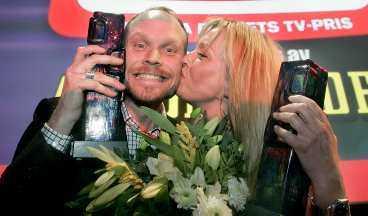Kristian Luuk är veteran i sammanhanget - årets tv-pris var hans åttonde. Linda Isacsson fick sitt första.