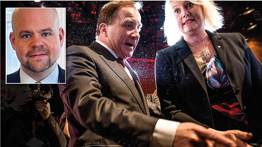 När argumenten tryter tar smutskastningen vid. Om regeringspartierna verkligen vill värna demokratin så måste de sluta kasta skit och börja diskutera politik. Vi är redo, skriver KD:s partisekreterare Peter Kullgren. På bilden Stefan Löfven och Lena Rådström Baastad.