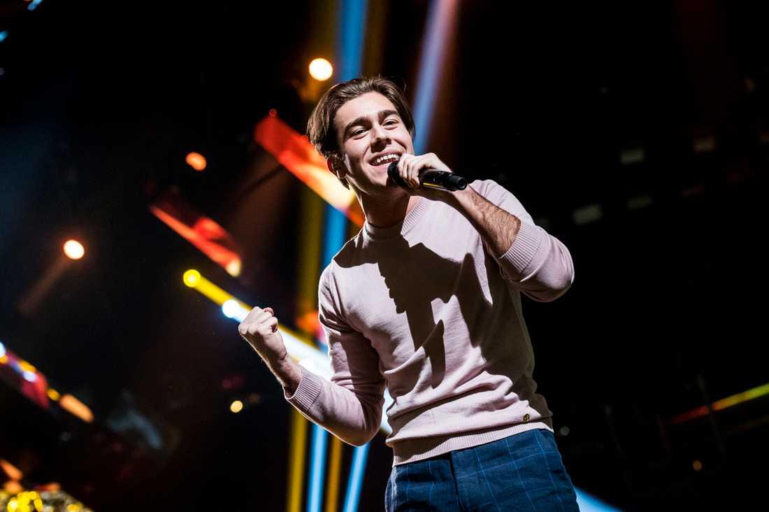 Benjamin Ingrosso i Melodifestivalen 2017.