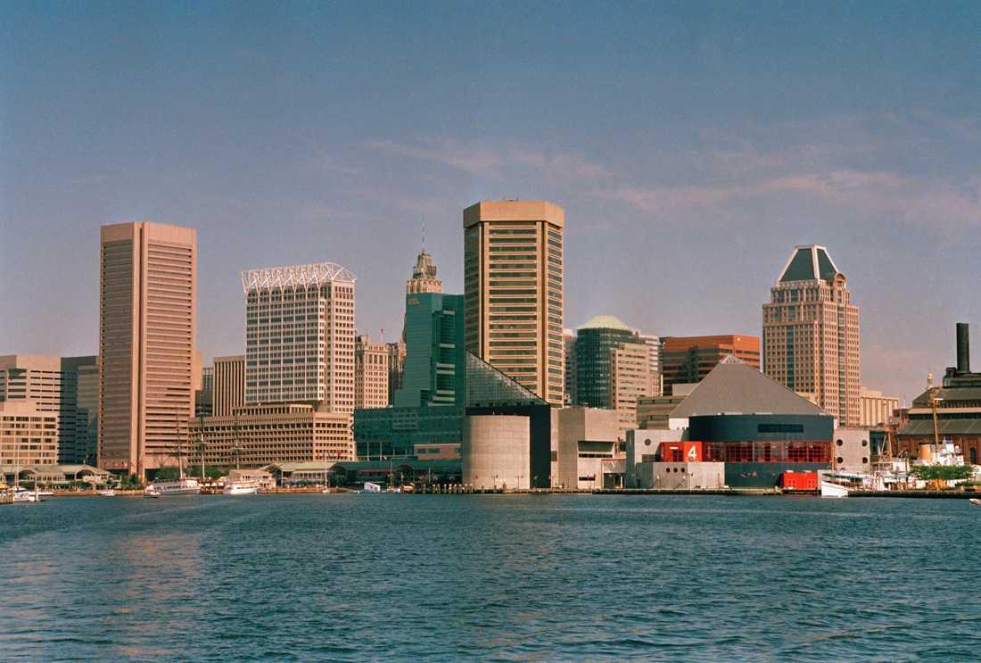"""Staden Baltimore kallas för en """"äcklig röra"""" av president Donald Trump."""