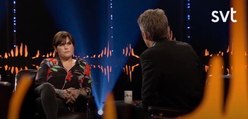 """Mia Skäringer i """"Skavlan""""."""